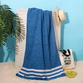 Bath towel pestemal of Persia 90x170cm, 150g / m, 80% CL, 20% p / e, blue