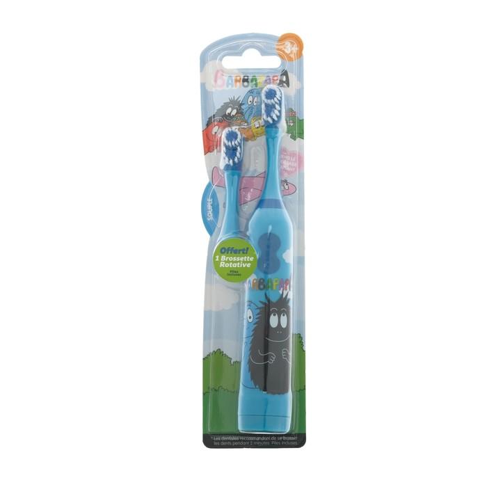 Электрическая зубная щётка Barbapapa tba-21, вибрационная, 2хААА (в комплекте)