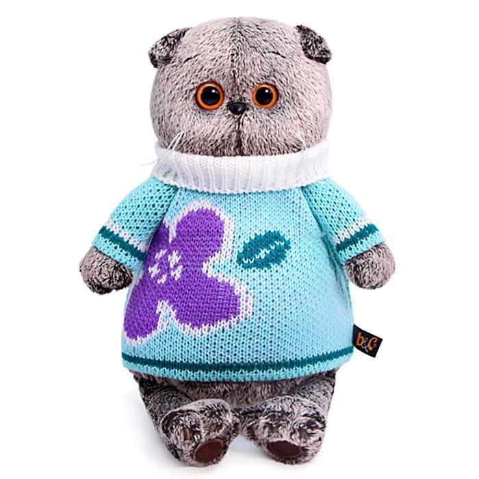 Мягкая игрушка «Басик» в весеннем свитере, 19 см - фото 798483919