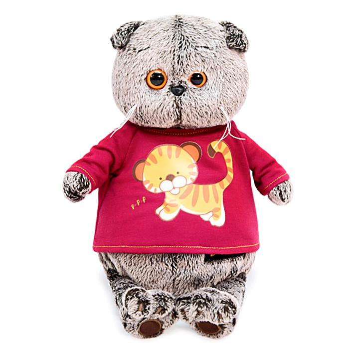 Мягкая игрушка «Басик» в футболке с принтом «Тигрёнок», 19 см - фото 4467862