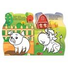 Раскраски с наклейками «Свинка и енотик», 2 шт. по 12 стр. - фото 105683373