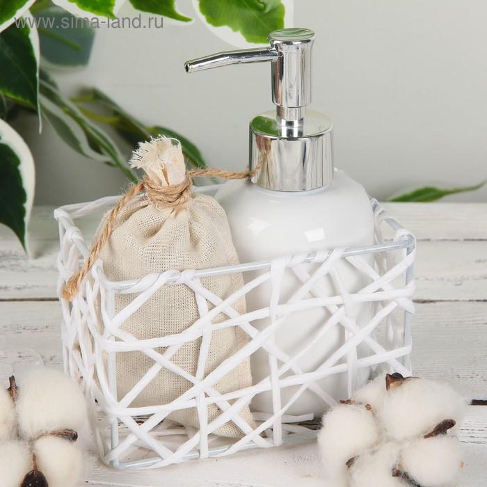 """Basket storage wicker 12,5х8х8 see """"Gossamer"""" color white"""
