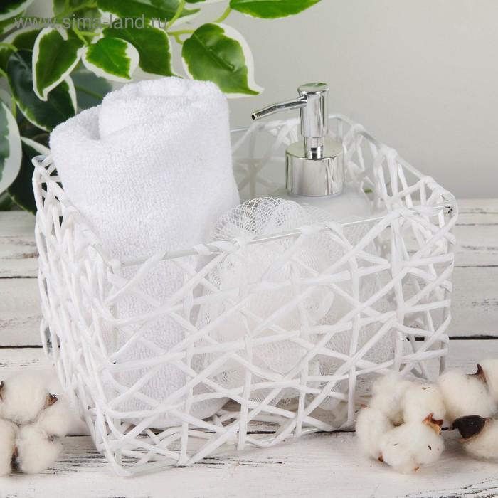 """Basket storage wicker 19х15х12 see """"Gossamer"""" color white"""