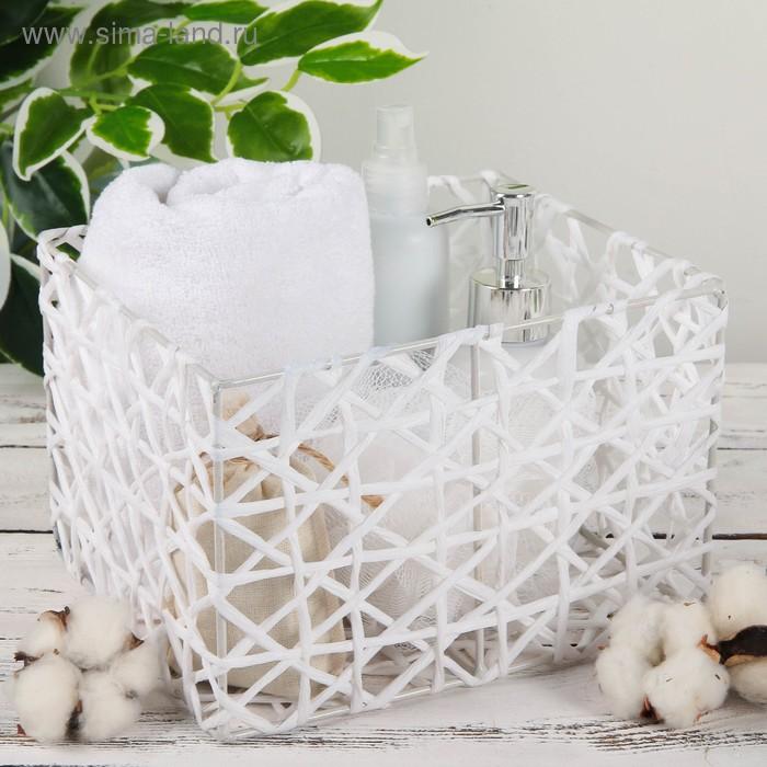 """Basket storage wicker 21х18х14 see """"Gossamer"""" color white"""