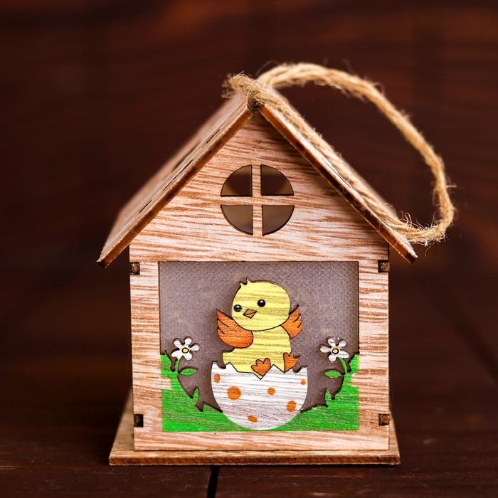 Декор с подсветкой «Цыплёнок в яичке на травке» 9×9,3×10,5 см - фото 798484247