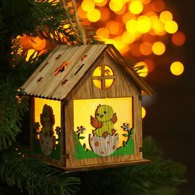 Декор с подсветкой «Цыплёнок в яичке на травке» 9×9,3×10,5 см