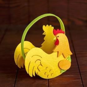 Пасхальная корзинка «Курочка» 16,5×15×7,5 см