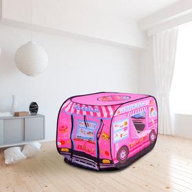 Палатка детская игровая «Лавка с мороженым», 70 × 100 × 70 см,