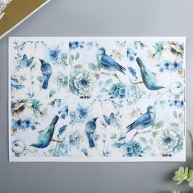 "Decoupage card ""birds"" a density of 45 g/m2, A4"