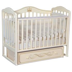 Кроватка «Кедр» Helen-5, универсальный маятник, ящик, цвет слоновая кость