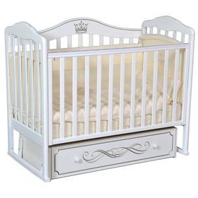 Кроватка «Кедр» Helen-5, универсальный маятник, ящик, цвет белый