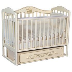 Кроватка «Кедр» Helen-6, универсальный маятник, ящик, цвет слоновая кость