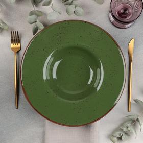 Тарелка для пасты Punto verde, 500 мл, d=31 см