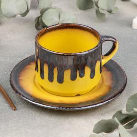 Tea pair Cleopatra: 200 ml cup, saucer d = 15.5 cm