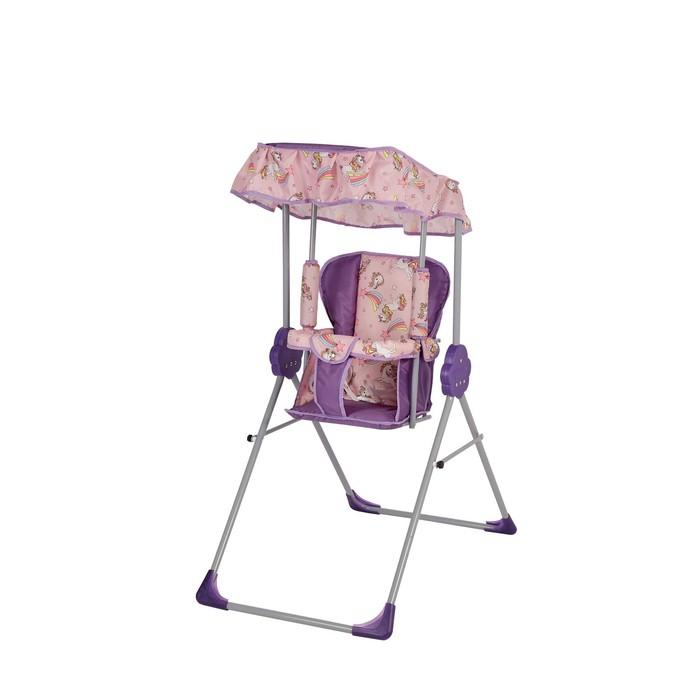 Качели детские с тентом «Малыш», цвет фиолетовый
