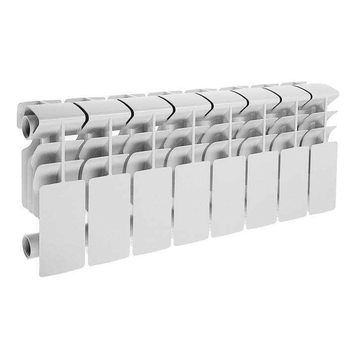 Радиатор алюминиевый Lammin ECO, 200 х 100 мм, 8 секций