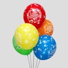"""Шар латексный 14"""" «С днём рождения!», конструктор, набор 5 шт."""
