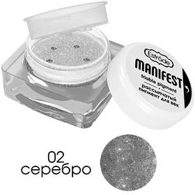 Рассыпчатый пигмент для лица Estrade Manifest, тон 02, серебро