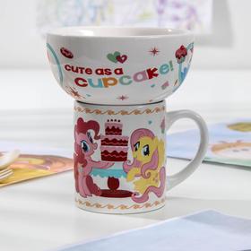 Набор посуды детский Hasbro My Little Pony, 2 предмета: кружка 200 мл, миска 300 мл