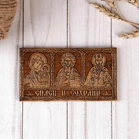"""Icon """"Triptych"""" 12x6,5 cm, birch"""