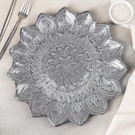 Тарелка сервировочная AKCAM «Каменный цветок», d=34 см