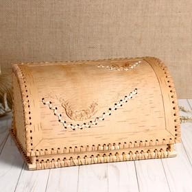 Хлебница «Натуральная», 27×22×14 см, береста
