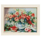 """E088-30x40 Painting of the tapestry """"Bouquet and a Cup of cherry"""" (35x45)"""