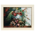 """H069-30x40 Painting of the tapestry """"Peacock and vase with flowers"""" (45х62)"""