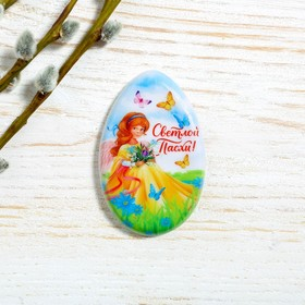 """Magnet in the shape of an egg """"angel"""", 5.1 x 8 cm"""