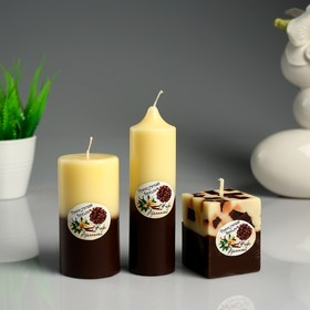 """A set of scented candles """"Vanilla coffee"""" 3 PCs"""