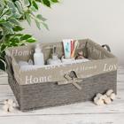 Корзина для хранения плетёная с ручками Love Home, 45×31×19 см