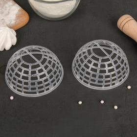 Набор каркасов для объёмных украшений торта 2 шт, 10х5 см