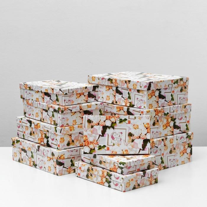 """Набор коробок 10 в 1 """"Свадьба 4"""", 36,5 х 26,5 х 12 - 23 х 13 х 3 см - фото 798486448"""