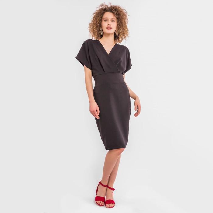 Платье женское, цвет чёрный, размер 44 (S) - фото 798486674