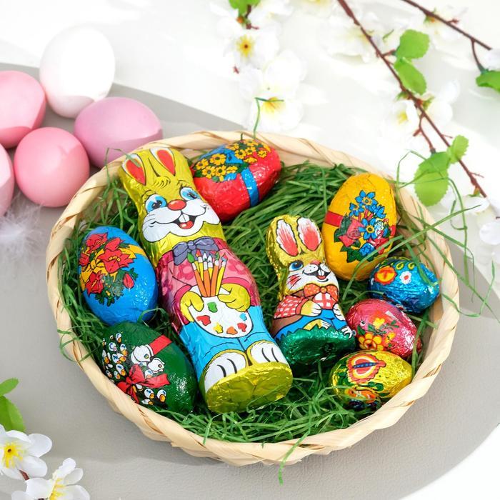 Корзина Only с шоколадными пасхальными кроликами и яйцами, 200 г