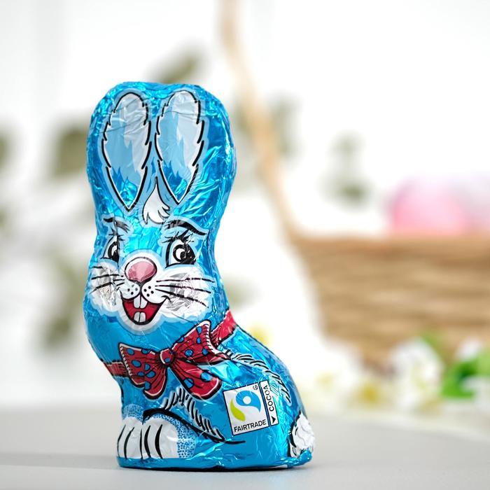 Пасхальный кролик Only из молочного шоколада, небесно-голубой, 60 г