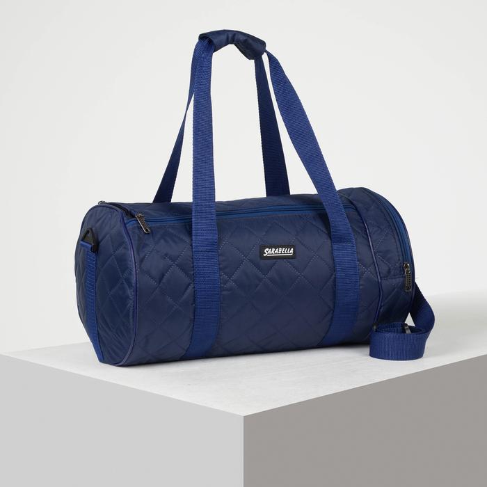 Сумка спортивная, отдел на молнии, наружный карман, длинный ремень, цвет синий - фото 798486798