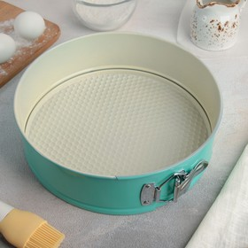 Форма для выпечки «Бирюза», 24×7 см, керамическое покрытие, разъёмная