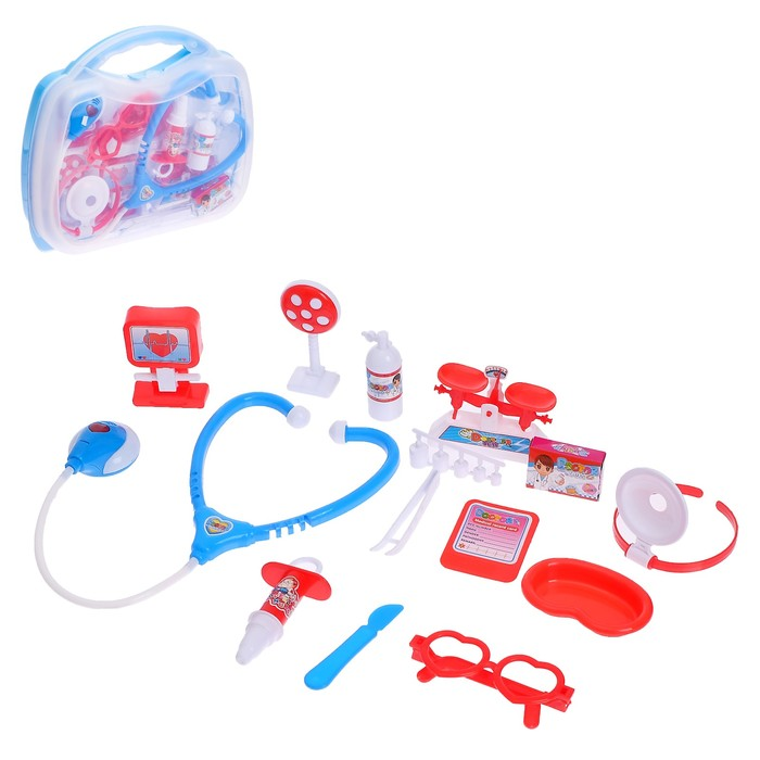 Набор доктора в чемоданчике «Маленький доктор», со световыми и звуковыми эффектами - фото 798487037