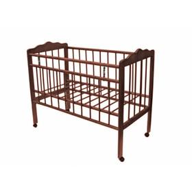 """Кровать детская """"Женечка-1"""",колесо(вишня)"""