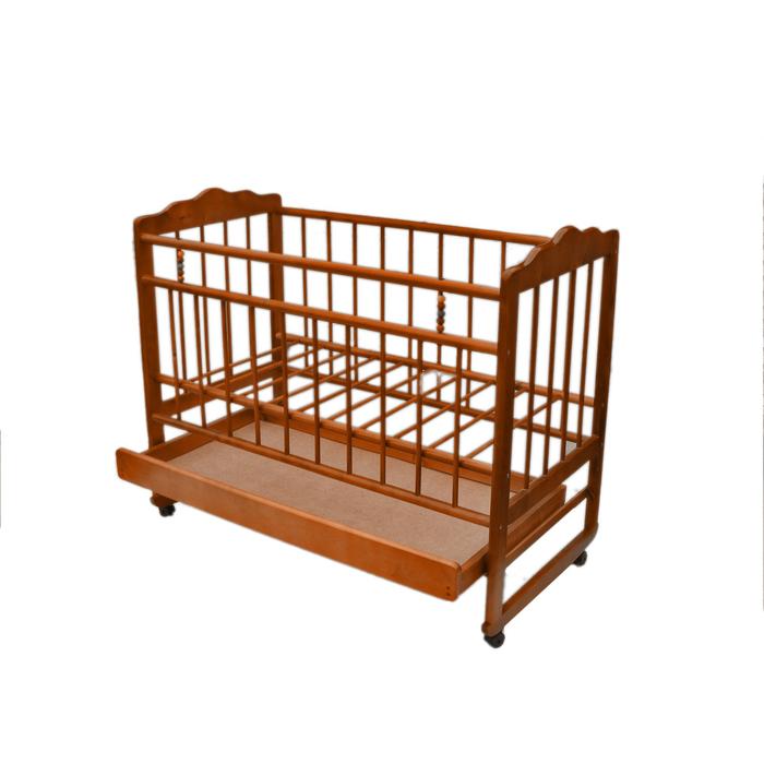 """Кровать детская """"Женечка-4"""", колесо-качалка, ящик,(орех)"""