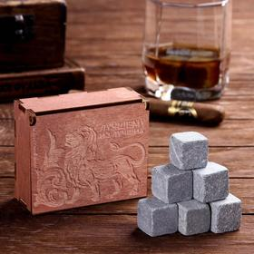 "A set of whisky stones ""best of the Best"", 6 PCs"