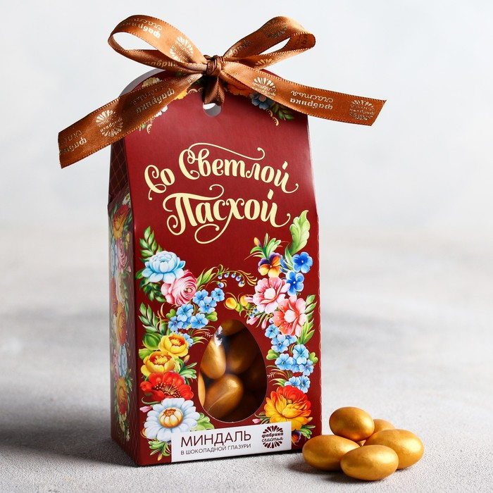 Миндаль в шоколадной глазури «Со светлой Пасхой», 100 г