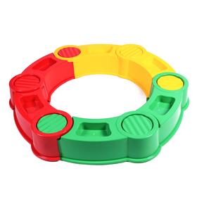 Песочница пластиковая, 115 × 115 × 20 см, разноцветная, «Круг»