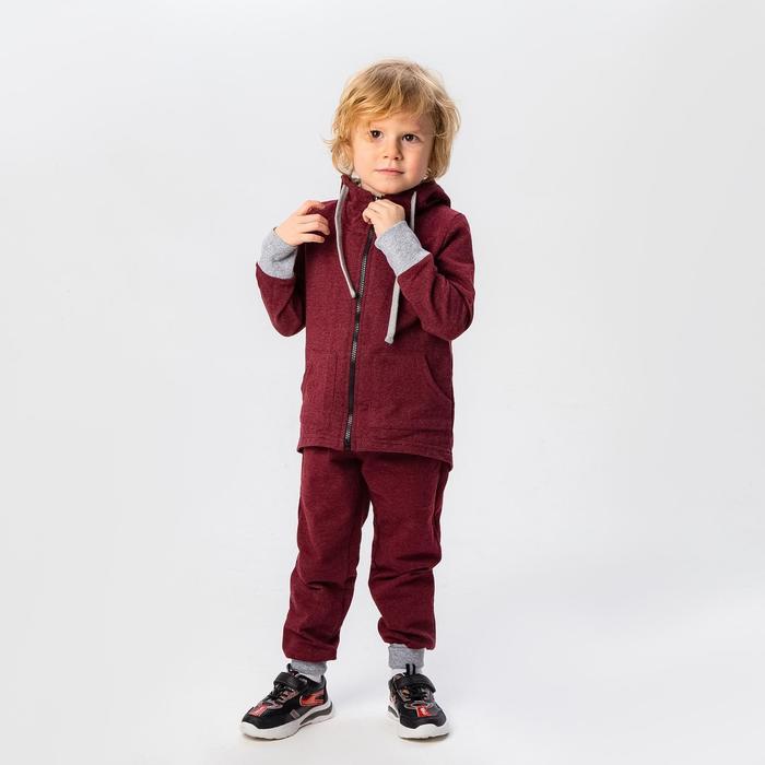 Комплект детский (джемпер, брюки), цвет бордовый, рост 104 см