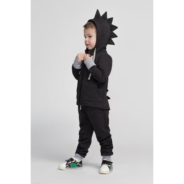 Комплект детский (джемпер, брюки), цвет чёрный, рост 104 см