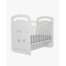 Кровать детская Lucy  колесо-качалка с маятником (белый) (1200х600)