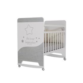 Кровать детская Cosmic колесо-качалка  (белый) (1200х600)