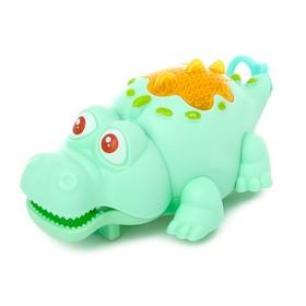 Игрушка заводная «Крокодил», световые эффекты, цвета МИКС