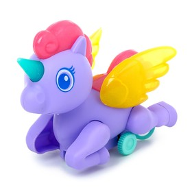 Toy clockwork Unicorn, lighting effects, color MIX